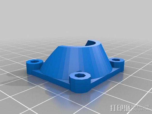 风扇支架 风扇罩 风扇通风导管  3D模型  图2