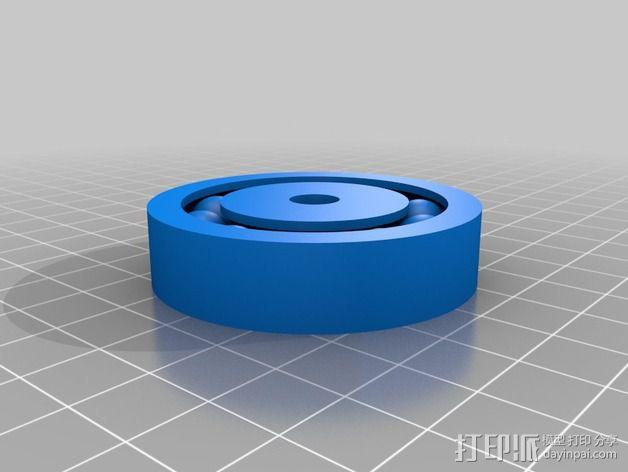 线轴支架 3D模型  图2