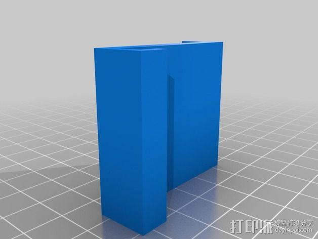 电源电缆固定器 3D模型  图2