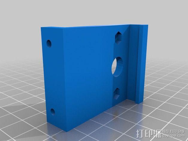 电源电缆固定器 3D模型  图3