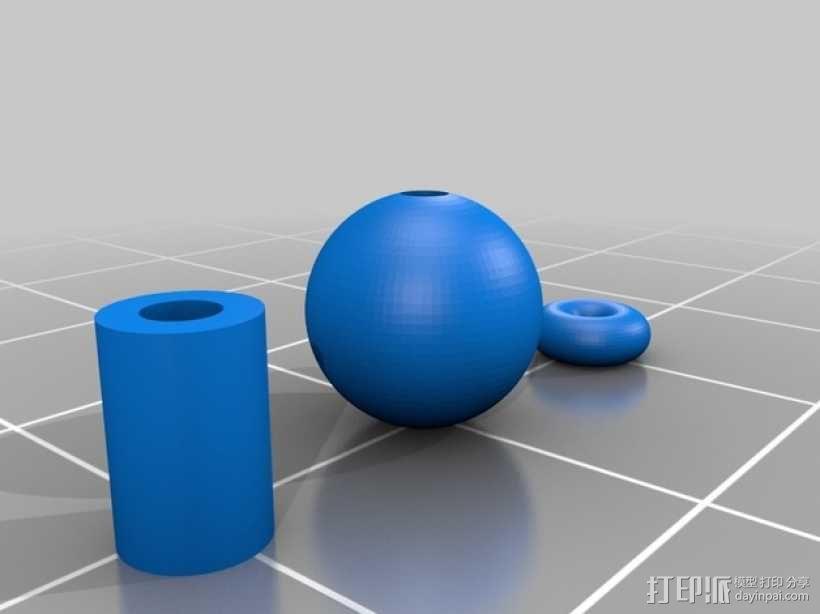 玻璃球 3D模型  图1