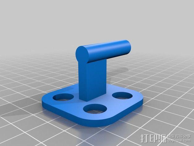 MakerGear M2打印机上的摄像头支架 3D模型  图2