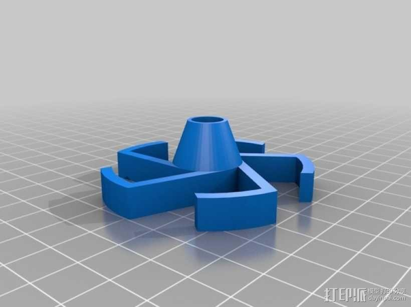 DIY的内嵌式线轴 3D模型  图1