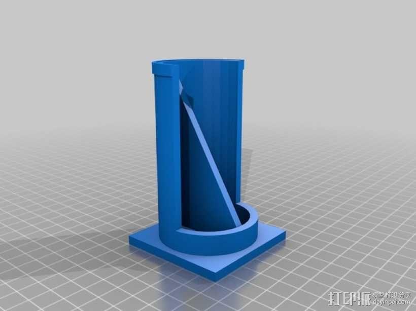 直径51毫米的线轴支架 3D模型  图1