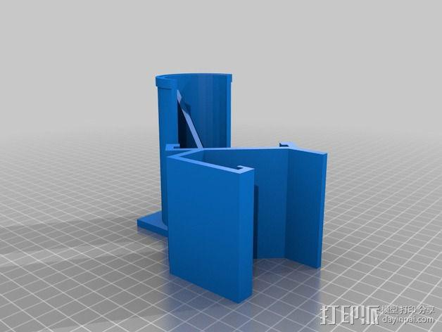 直径51毫米的线轴支架 3D模型  图3