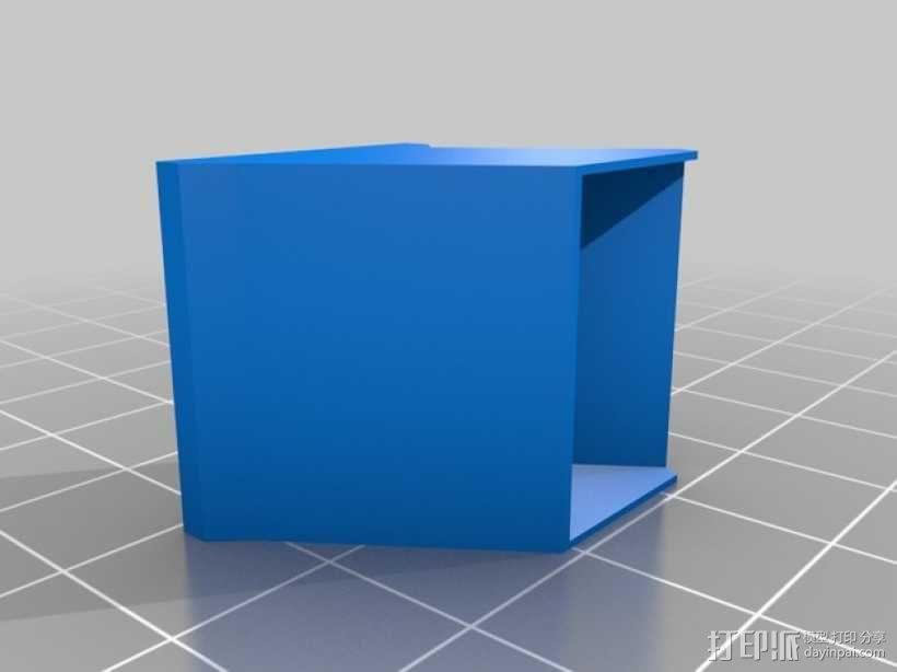 E3D/J-Head喷头支架 3D模型  图1