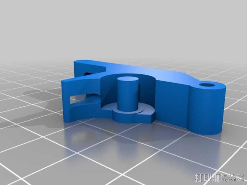 E3D/J-Head喷头支架 3D模型  图2