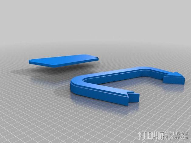 Feeder Tweeter标志 3D模型  图2