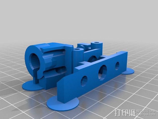 Bowden 挤出机扳机夹 3D模型  图3