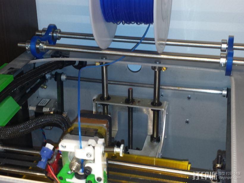 Solidoodle 3打印机的线轴支架 3D模型  图1