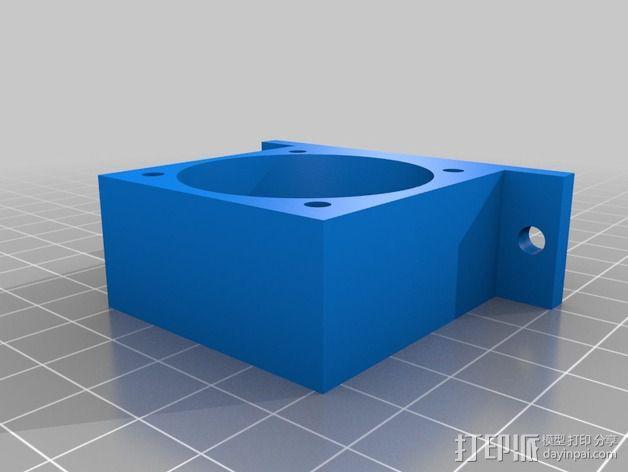 挤出机横梁支架 3D模型  图2