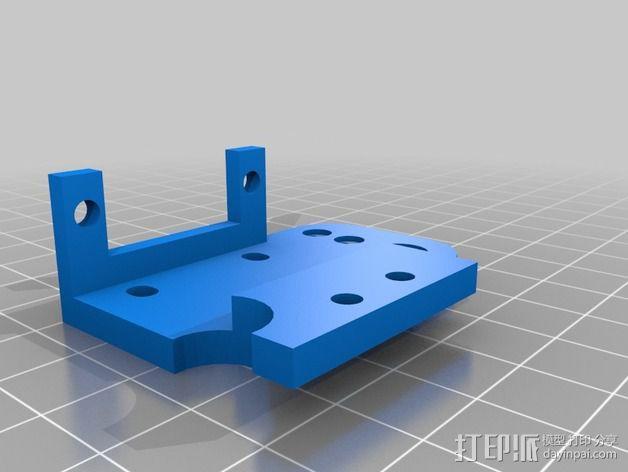 挤出机的马达支架 3D模型  图1