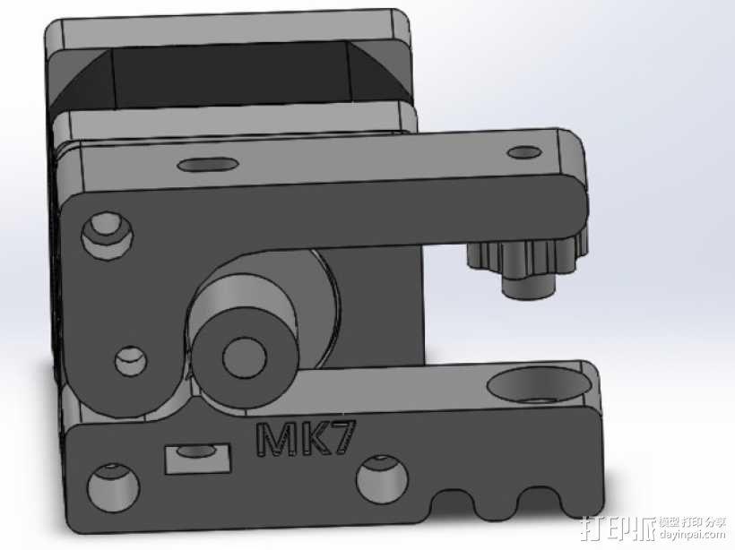 bowden 挤出机 3D模型  图23