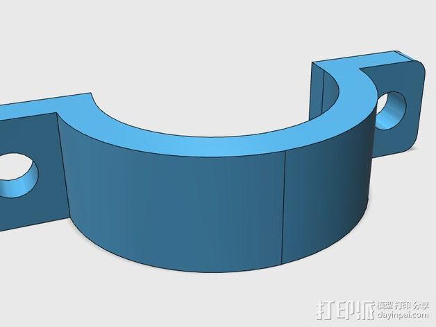 线夹  电缆夹 3D模型  图2