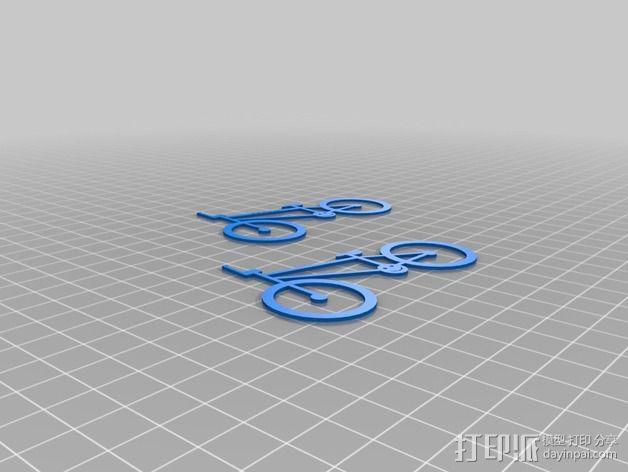 极限单车 吊坠 钥匙扣 3D模型  图2