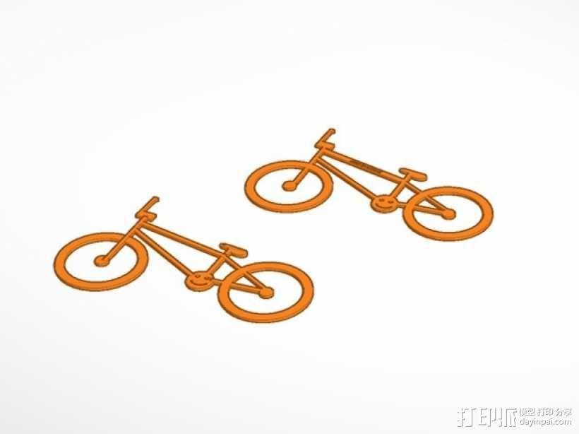极限单车 吊坠 钥匙扣 3D模型  图1