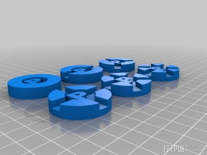 Prime Climb硬币徽章 3D模型  图1