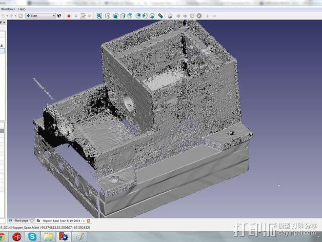 通用式料斗槽 3D模型  图3