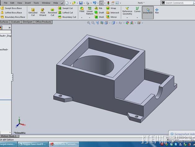 通用式料斗槽 3D模型  图4