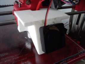 Wade's挤出机的风扇支架 风扇罩 3D模型