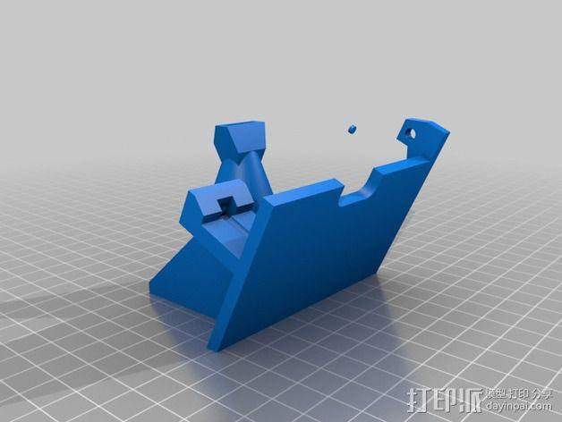 Wade's挤出机的风扇支架 风扇罩 3D模型  图2