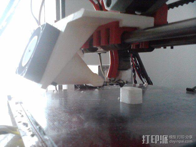 Wade's挤出机的风扇支架 风扇罩 3D模型  图6