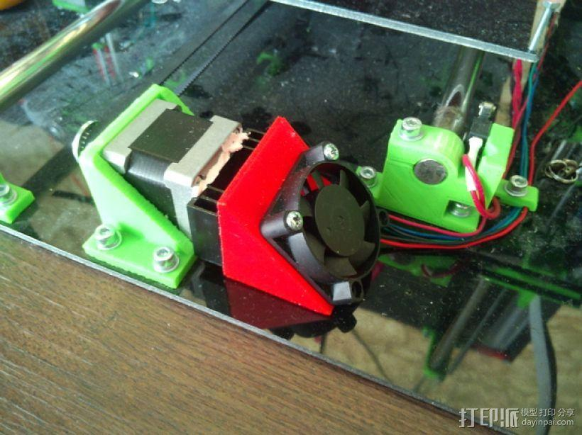 mendel90打印机Y轴的马达风扇通风导管 3D模型  图1
