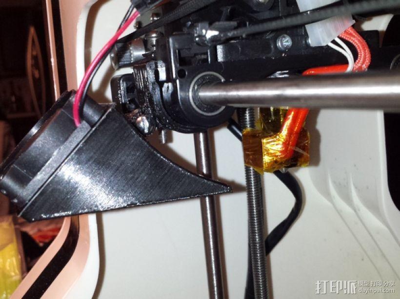 Robo3D打印机的风扇导管 风扇支架 3D模型  图2