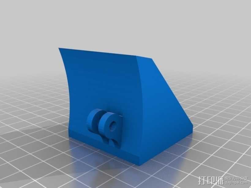 Robo3D打印机的风扇导管 风扇支架 3D模型  图1