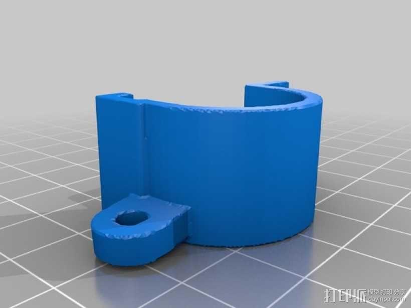 Robo3D打印机的风扇导管 风扇支架 3D模型  图3