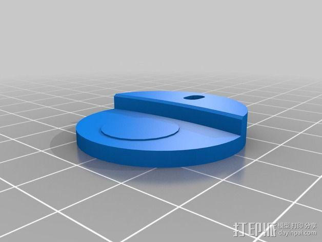 3DR delta式打印机打印床支撑器 3D模型  图1