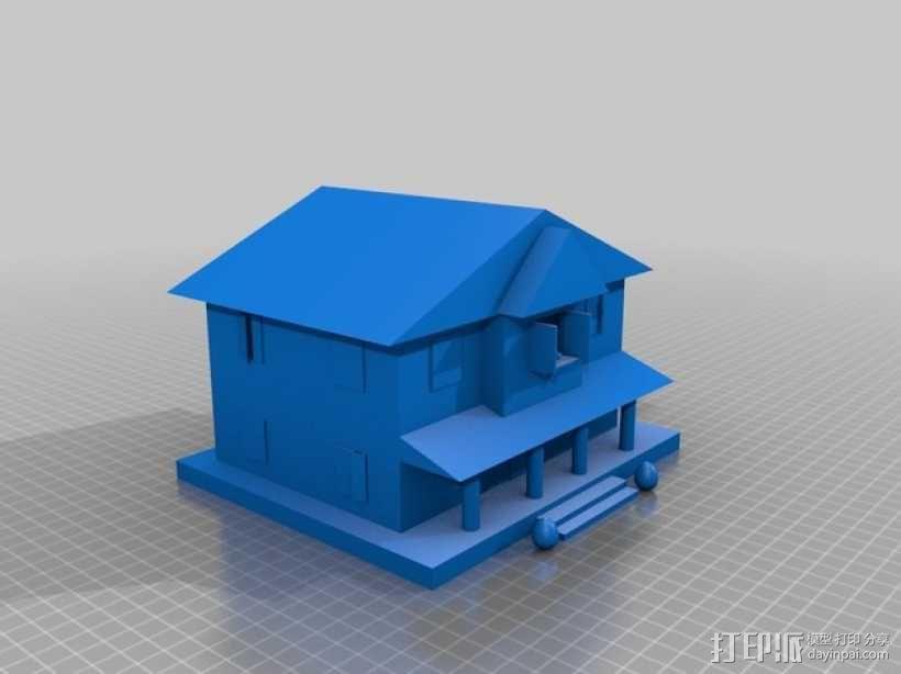房屋模型 楼房  3D模型  图1