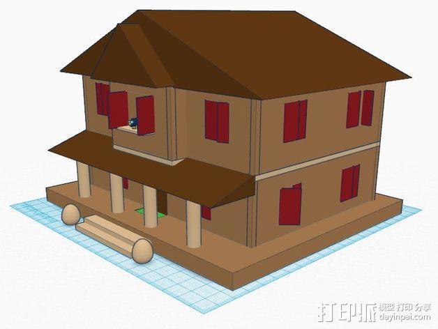 房屋模型 楼房  3D模型  图2