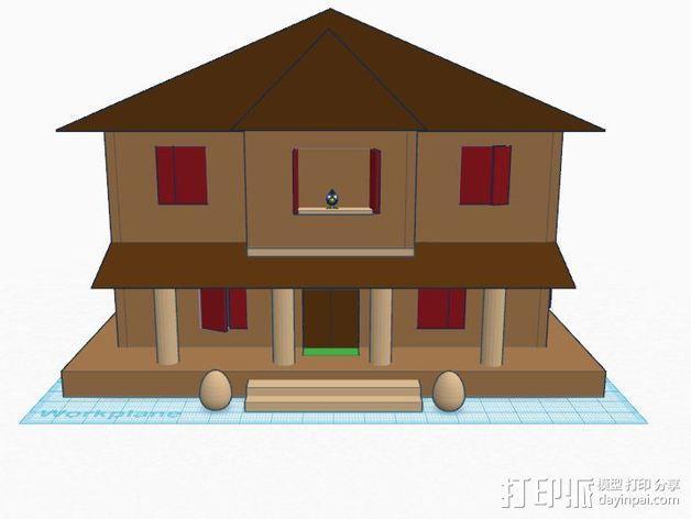 房屋模型 楼房  3D模型  图3