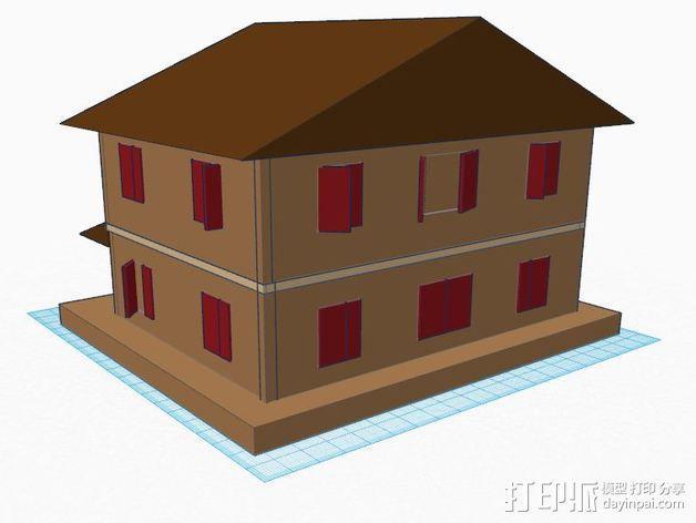 房屋模型 楼房  3D模型  图4
