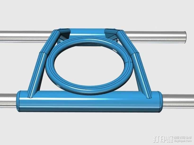 线材导轨 导线器 3D模型  图1