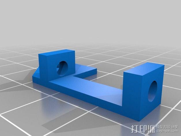 Vellemann K8200打印机Z轴的限位开关支架 3D模型  图1