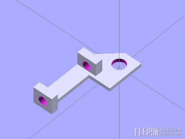 Vellemann K8200打印机Z轴的限位开关支架 3D模型  图2