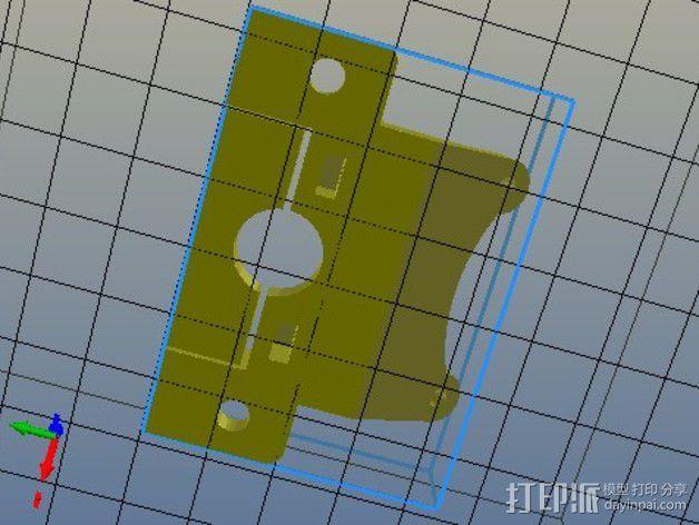 通用式的喷头支架 3D模型  图2