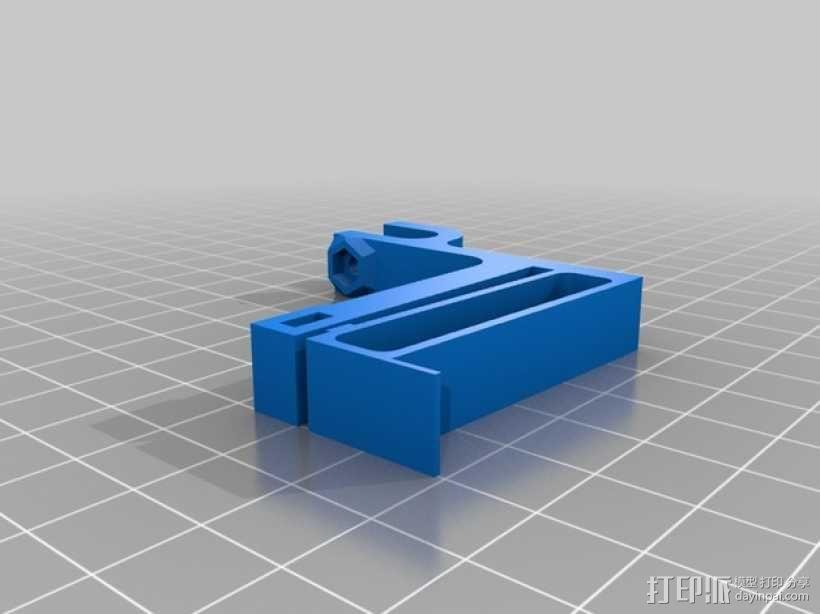 可以调节的限位开关 3D模型  图1