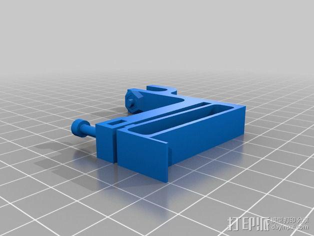 可以调节的限位开关 3D模型  图2