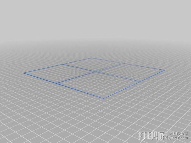 DaVinci 1.0打印机的校准器 3D模型  图1