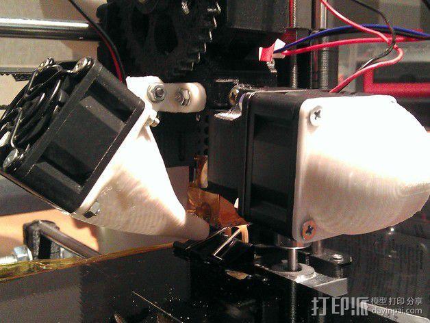Prusa i3风扇支架 3D模型  图1