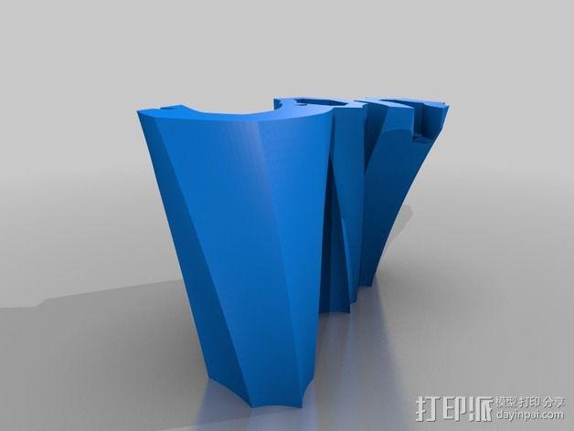 螺旋形的工具 3D模型  图4