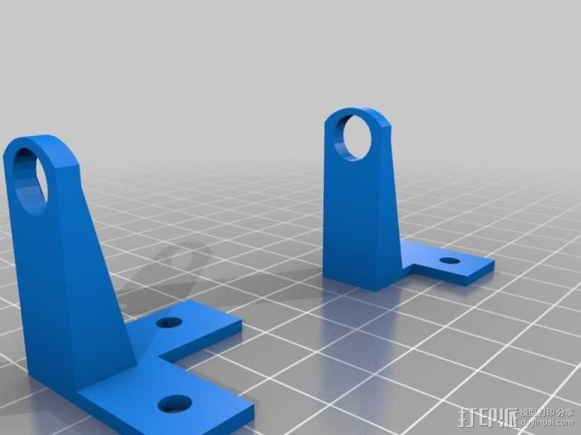 PrintrBot Simple打印机的导线器 3D模型  图1