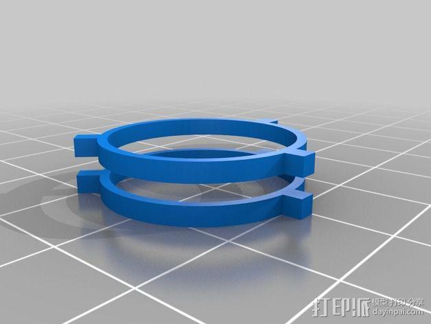 双挤出机校准器 3D模型  图2