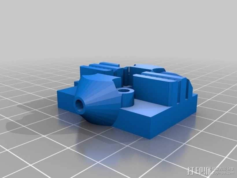 Kossel Mini 打印机的滑轨 3D模型  图1