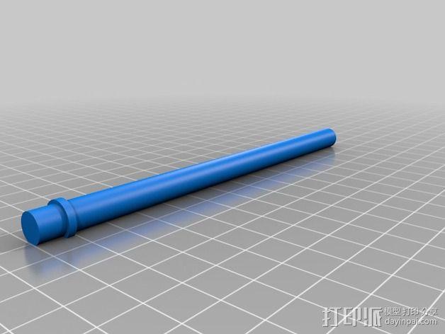 垂直线轴支架 3D模型  图6