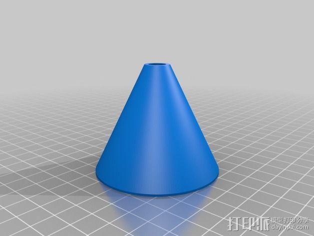 垂直线轴支架 3D模型  图4
