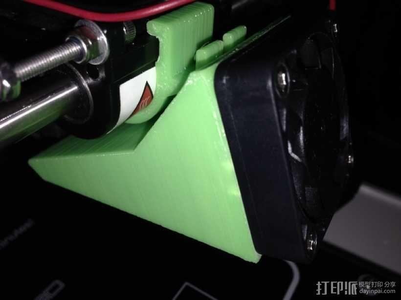 40毫米的风扇通风导管 3D模型  图3